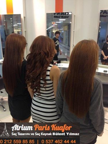 halka saç kaynak uygulaması